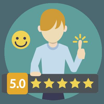 un cliente totalmente satisfecho