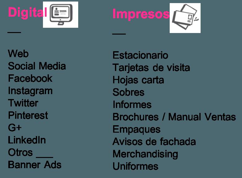 Materiales digitales e impresos