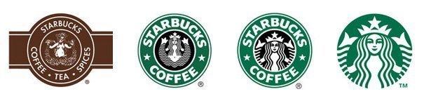 evolución del logo de starbucks